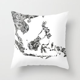 south east asia Throw Pillow