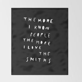 THE SMITHS Throw Blanket