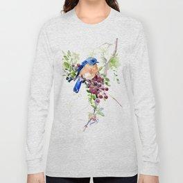 Bluebird and Berries Long Sleeve T-shirt