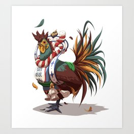 Chickemono Art Print