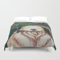 marley Duvet Covers featuring The Marley Series: Bobmarley by Katie Duker
