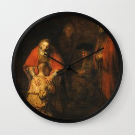 Rembrandt - Return Of The Prodigal Son Wall Clock