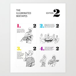The Illuminated Mixtapes, Edition 2 Art Print