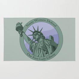 Nasty Woman Our First Lady Statue Of Liberty Rug