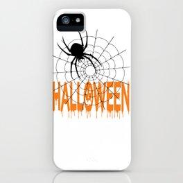 HAlloween T-Shirt, Men Graphic Tee, Halloween Costume, Spider iPhone Case