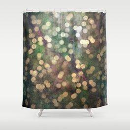 Magical Lights Gold Dots Shower Curtain
