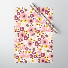 Boho Floral Vibes Wrapping Paper