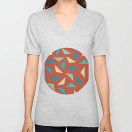 circular triangular Unisex V-Neck