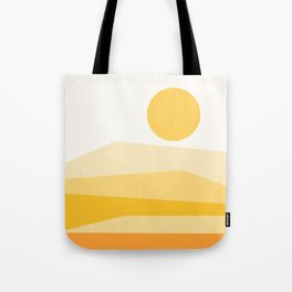 Abstract Landscape 09 Yellow Tote Bag