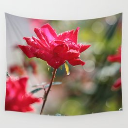 Red Diamond And Lace Wall Tapestry