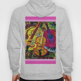 Rose Color Guitar String Instruments Hoody