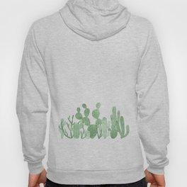 Green cactus garden Hoody
