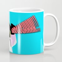 lichtenstein Mugs featuring Lego Lichtenstein - Scream by Timkirman