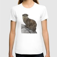 otter T-shirts featuring Otter by ZHField