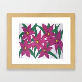 Ultra Violet Lily Bouquet Framed Art Print
