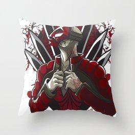 Masked Assassin Throw Pillow