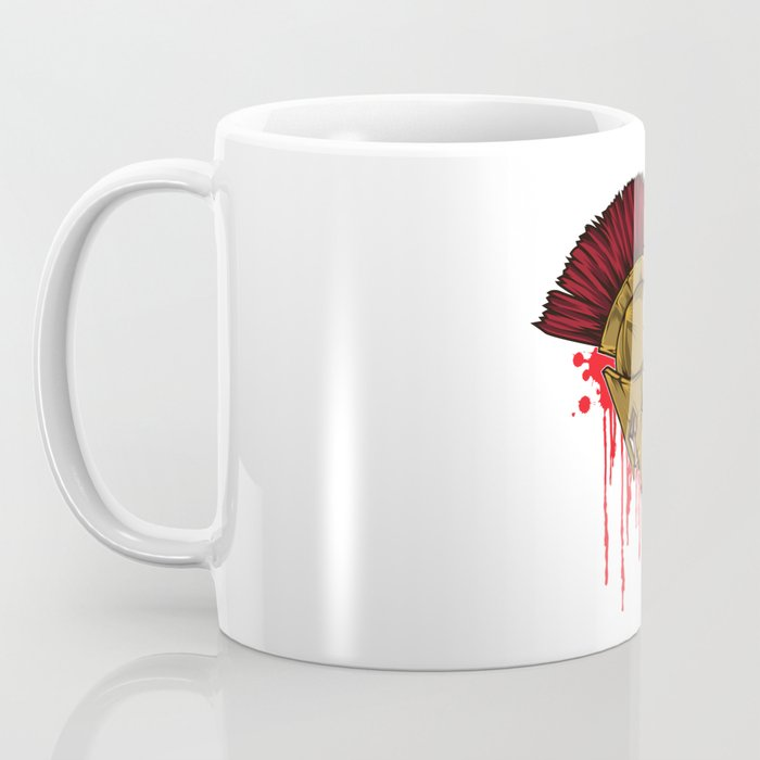 Spartan Warrior | Sparta Head Fighter Spartiate Coffee Mug