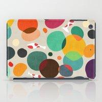 koi iPad Cases featuring Lotus in koi pond by Picomodi