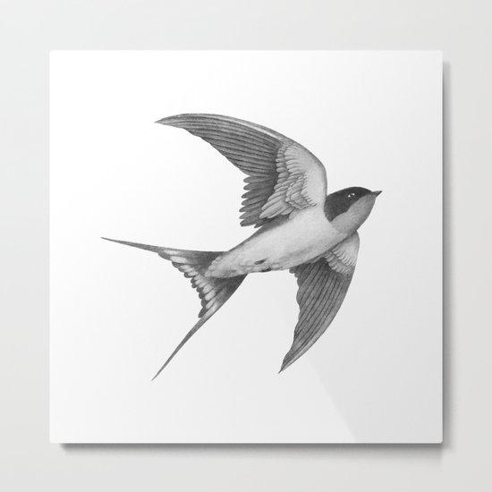 Barn Swallow - mono Metal Print
