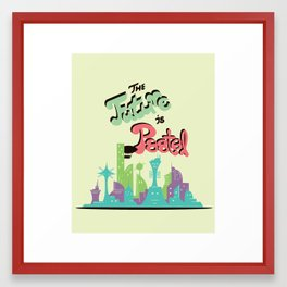 THE FUTURE IS PAST(EL) Framed Art Print
