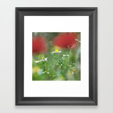 Hidden flower Framed Art Print