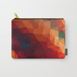 Burnt Jewel Low Poly Carry-All Pouch