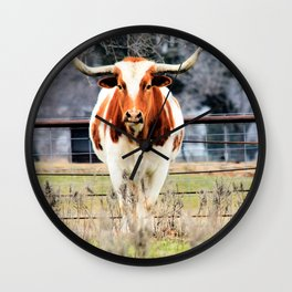 Texas Longhorn Morning Wall Clock