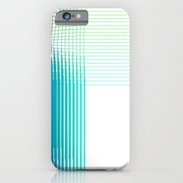 Blue Green Purple Thread Gradient Gridlines iPhone Case