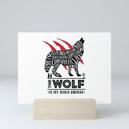 Spirit Animals: The Wolf Mini Art Print