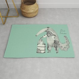 Beginning on your journey - Giant Anteater - Green Rug
