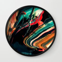 ABSTRACT COLORFUL PAINTING II-A Wall Clock