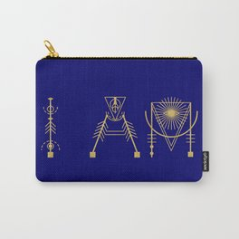 I AM in Sacred Geometry Letters Carry-All Pouch
