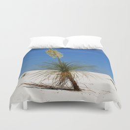 Living In The White Sand Dunes Duvet Cover