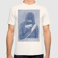 Chewie MEDIUM Mens Fitted Tee Natural