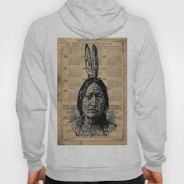 Sitting Bull Native American Chief  Hoody
