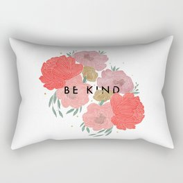 Be Kind + Florals Rectangular Pillow