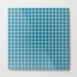 Tattersall Blue Metal Print