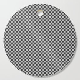 Black and White Checkerboard Carbon Fiber Pattern Cutting Board