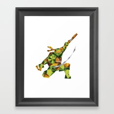 Nunchaku Turtle Framed Art Print
