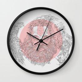 Holy cockfight Wall Clock
