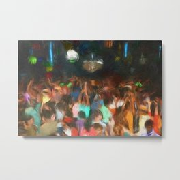 'Jubilant Harlem, Durham Armory; Dance Belongs to Everyone' African American portrait painting Metal Print