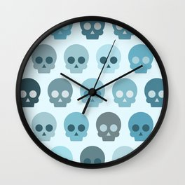 Colorful Skull Cute Pattern II Wall Clock