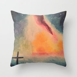 Sky Declares Glory of God Throw Pillow
