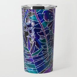 Galaxy Floral Travel Mug