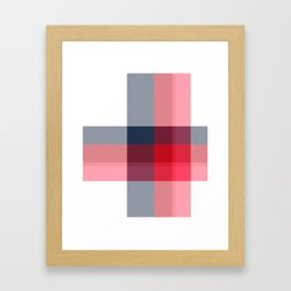 Minimal Plaid 3 Framed Art Print