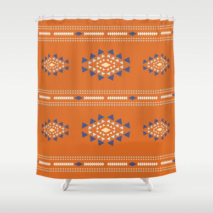 Native Tribal Print Shower Curtain