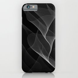 Black and White Flux #minimalist #homedecor #generativeart iPhone Case