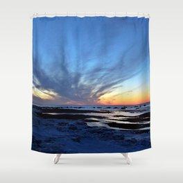 Cloud Streaks at Sunset Shower Curtain