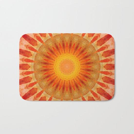Mandala sunset Bath Mat