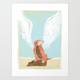 All Dogs Go to Heaven (Golden Retriever) Art Print